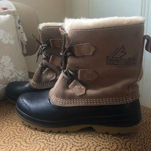 VTG Kamik Snow Boots Suede Rubber Sz 8 Ugg Sorel
